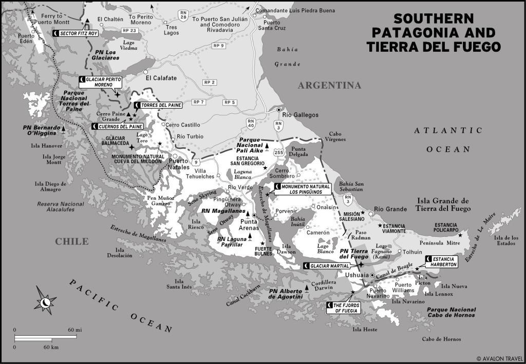 Tierra del Fuego Nat'l Park Map