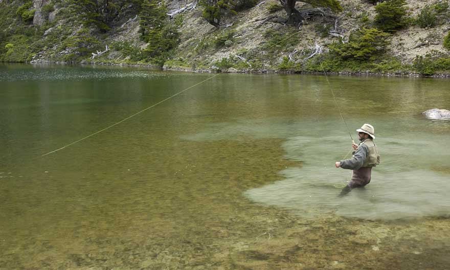 Fly Fishing at a Patagonia Lodge